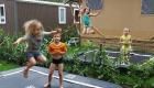 Safari Lodges 2 trampolines
